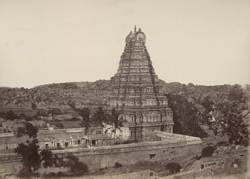 Beejanuggur. Great gateway of a temple. [Gopuram of the Virupaksha Temple, Vijayanagara.]